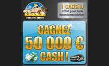 Gagnez 50 000 € sur kingoloto