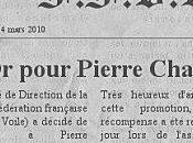 Dernière minute Pierre Charodie salué Fédération Française Voile