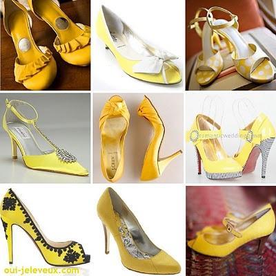 des chaussures de mariage jaunes oui je le veux voir. Black Bedroom Furniture Sets. Home Design Ideas