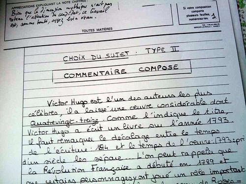 Bac francais corrige dissertation 2002