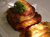 Pintadeaux rôtis canapés, pommes boulangère