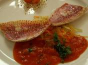 filet rouget beurre tomate basilic légumes croquants