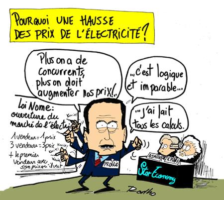 Edf concurrence augmentation du prix de l 39 lectricit henri proglio et - Augmentation prix electricite ...