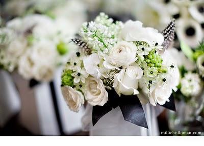 Une d coration de mariage en noir blanc oui je le - Decoration voiture mariage noir et blanc ...