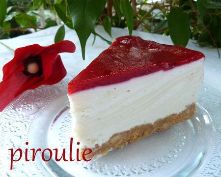 Cheesecake sans cuisson de kapulski avec un coulis de framboises lire - Cheesecake framboise sans cuisson ...