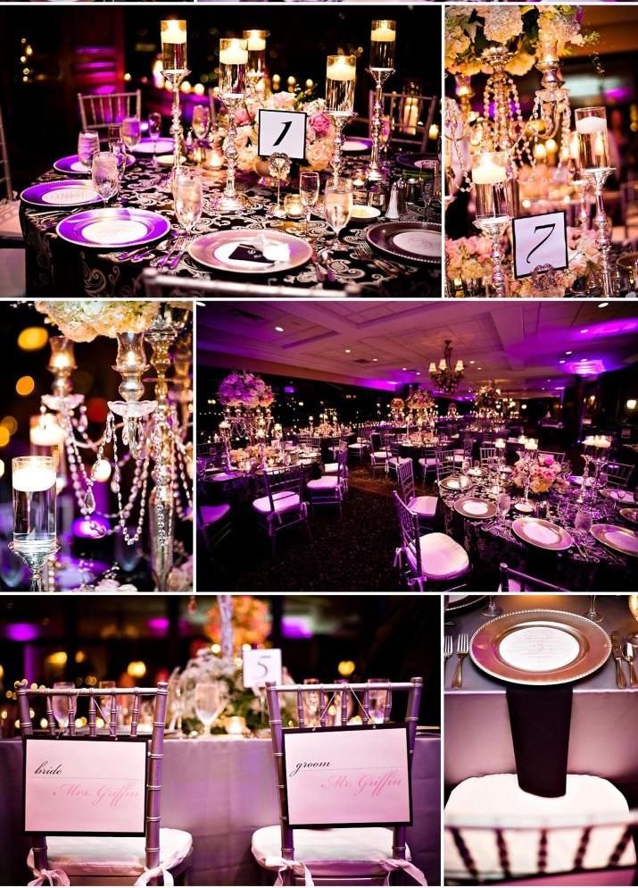 vrai mariage noir blanc et violet luxueux paperblog. Black Bedroom Furniture Sets. Home Design Ideas