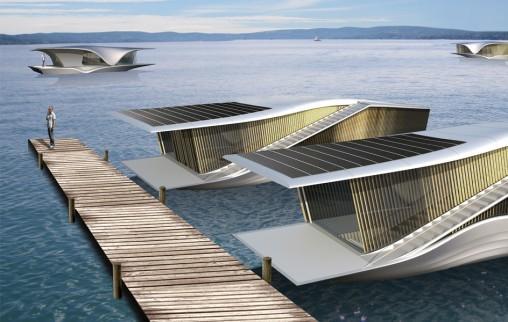 The last resort un concept de maison flottante for Construire une maison flottante