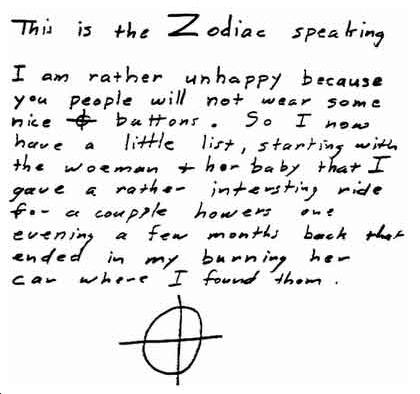 short essays on the zodiac killer Zodiac killer research paper click herezodiac killer research paper st petersburg swarm intelligence research paper custom writing stockton assignment of.