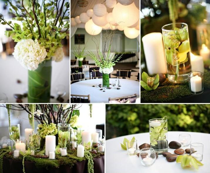 Vrai mariage vert anis et chocolat: un sacré mélange!