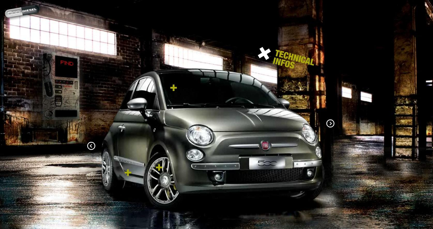 fiat 500 by diesel buzz paperblog. Black Bedroom Furniture Sets. Home Design Ideas