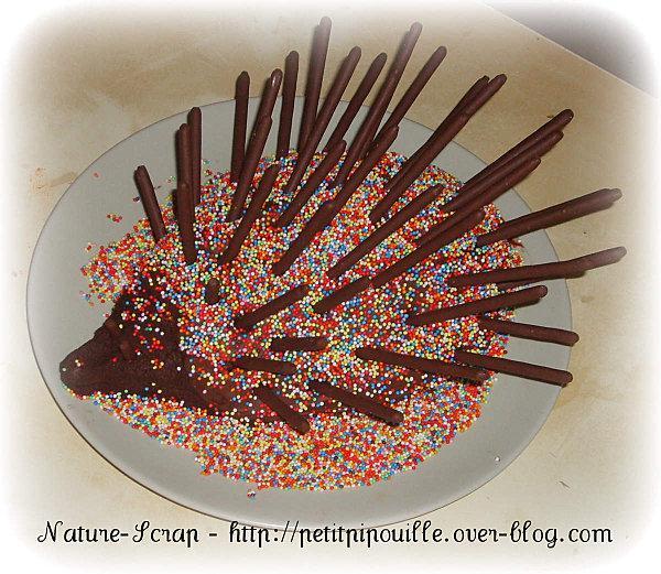 Gateau herisson au chocolat