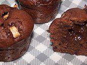 Muffins Chocolat, Poire Coeur Caramel fondant (par Aurélie)