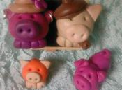 Porcinet family fimo