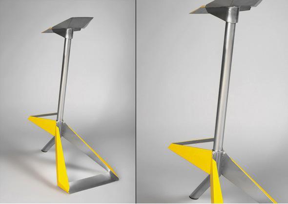 Opa chair un tabouret inspir de l origami par daniel for Chaise origami