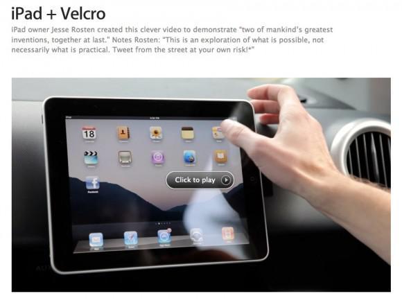 iPad + Velcro: Apple s'y met aussi