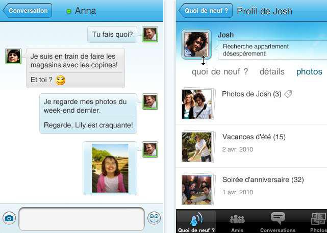 Application iPhone Messenger téléchargée un million de fois
