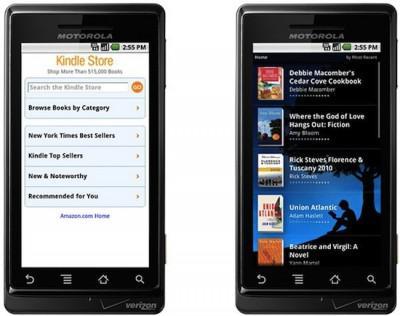 L'application Kindle disponible pour Android