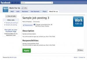 RH : Créez un Bureau de Recrutement sur Facebook