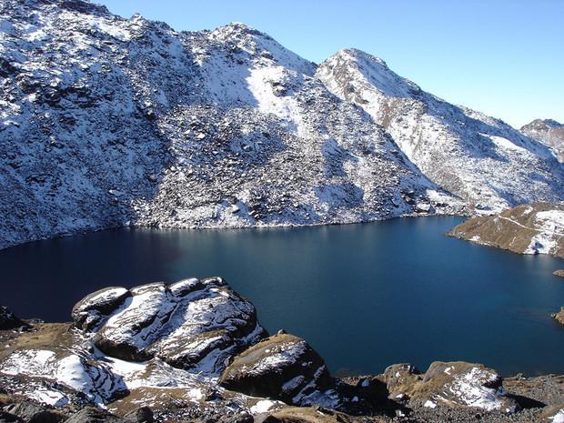 Le lac de Gosaikund, Népal