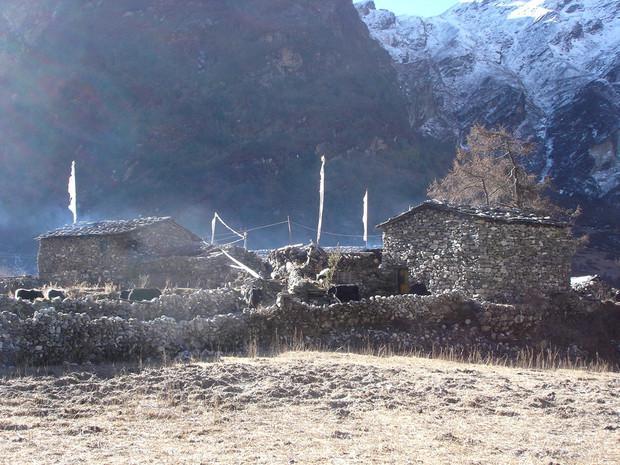 Brume matinale, Népal