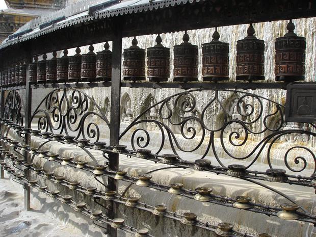 Moulins à prières, Katmandou, Népal