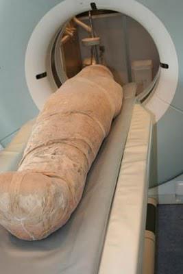 Un scanner révèle la présence de curieux os dans le crâne d'une momie