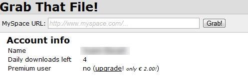 grabthatfile Comment télécharger les musiques de Myspace en MP3 ?