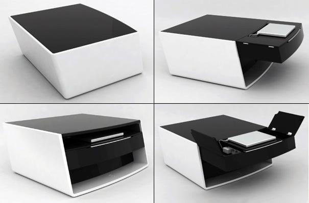 la table basse multim dia selon philippe barsol paperblog. Black Bedroom Furniture Sets. Home Design Ideas