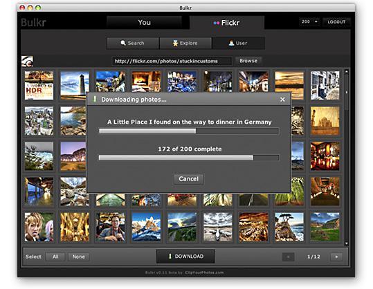 Bulkr sauvegarde votre flickr sur votre disque dur.