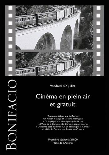 Soirée Audiovisuel sur le thème de la Corse à partir de demain soir à la Halle de l'Arsenal à Bonifacio.