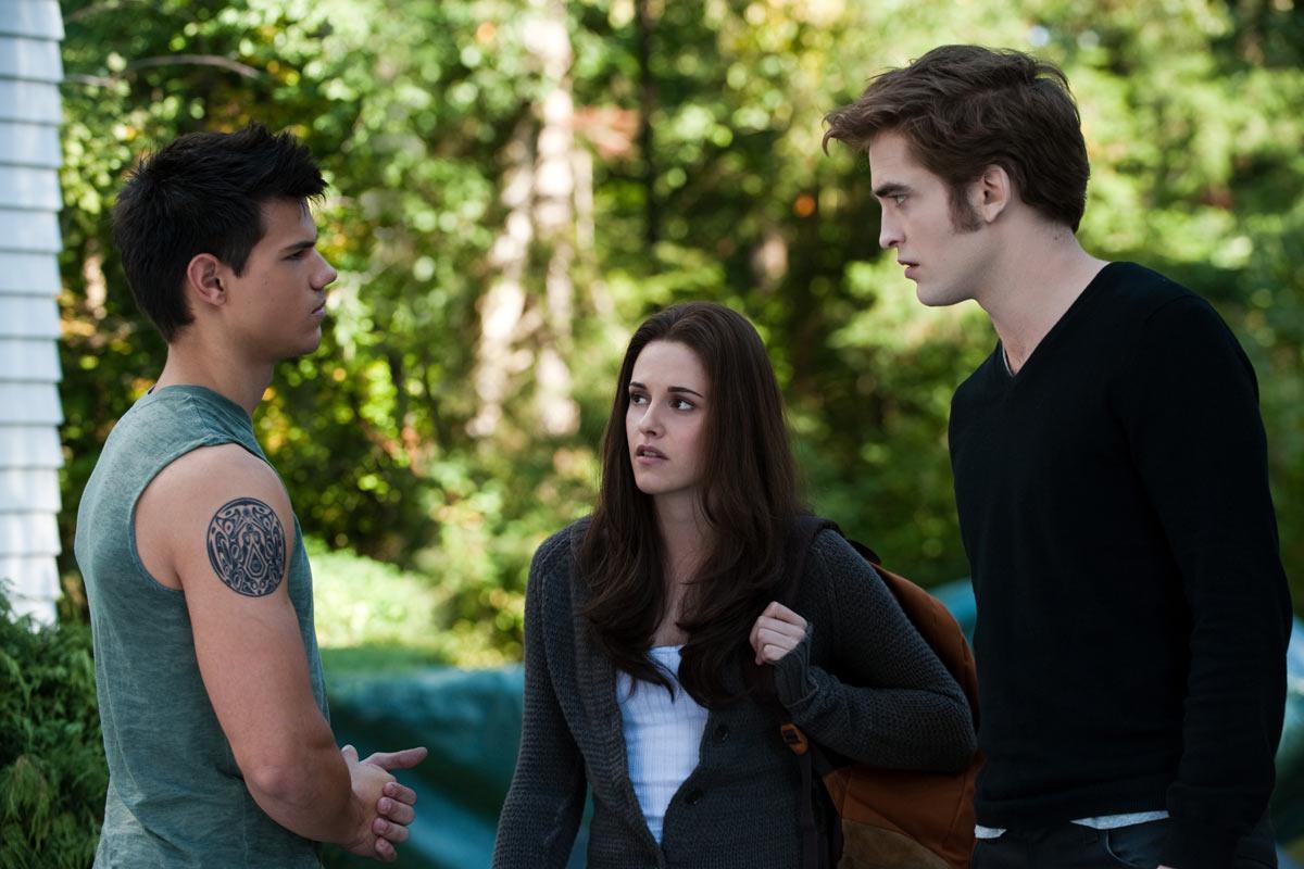 Taylor Lautner, Kristen Stewart et Robert Pattinson. SND