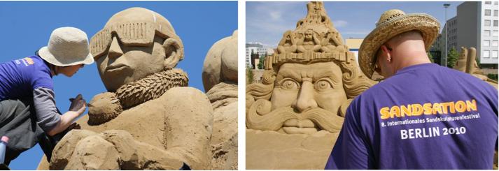 Insolite à Berlin : un festival de sable qui fait « sandsation »