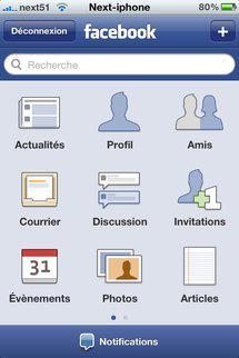 Facebook gère le multitâche sur iPhone...
