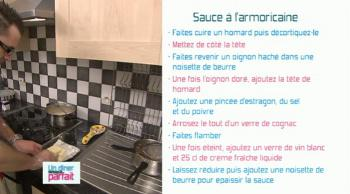 La recette de julien et son homard