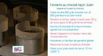 Le fondant au chocolat de Julien !