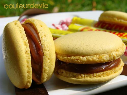 Macarons aux carambars au beurre salé