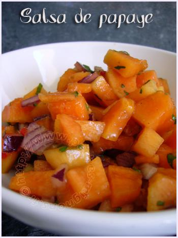 Salsa de papaye