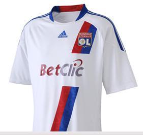 Ligue 1 : Nouveau maillot de Lyon 2010 Adidas