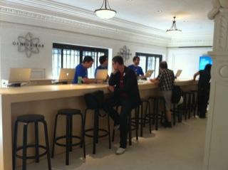 Ouverture de l'Apple Store Opéra à la presse