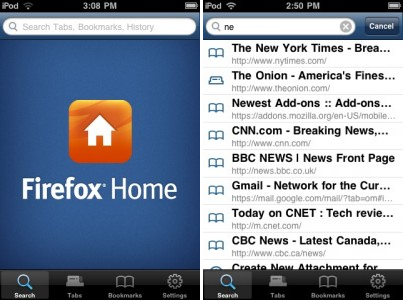 Firefox arrive sur iPhone et iPod touch