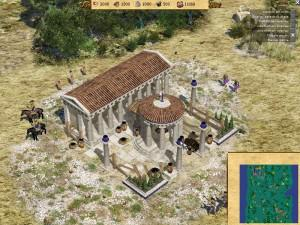 0 A D screenshot town 300x225 Jeux sous linux : Clone libre de Age of Empire