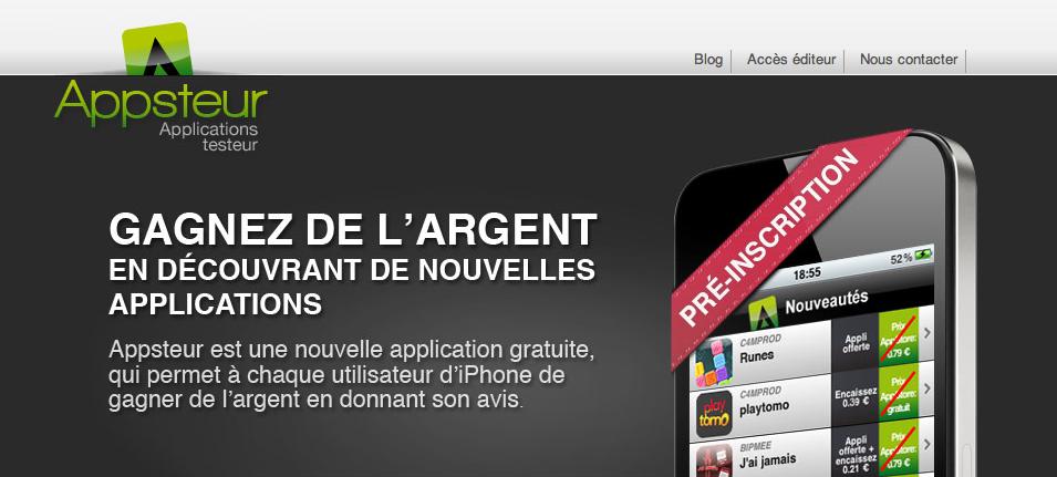 Appsteur: Devenir testeur rémunéré d'applications iPhone