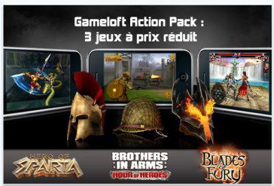 Trois jeux pour 3,99 euros chez Gameloft