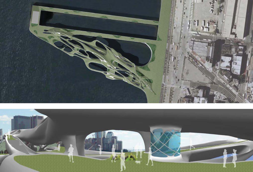 Ecotectonics, une hybridation entre un aquarium et un parc public à New York - 2