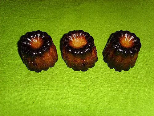 Cannelés exotiques (malibu coco et citron vert)