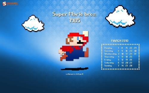 super mario bros 1985 15 superbes thèmes pour Windows Seven gratuits