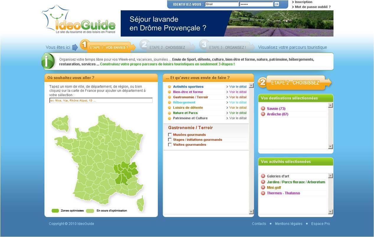 Suivez le guide sur le net avec ideoguide.com