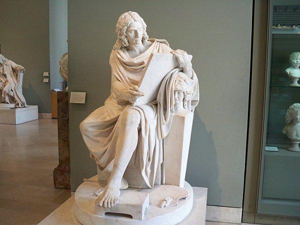 Poussin statue