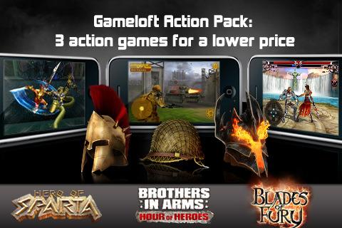Gameloft Action Pack: 3 jeux d'actions en un