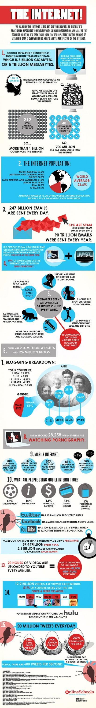 internet 15 points insolites : les statistiques de lInternet en une seule image